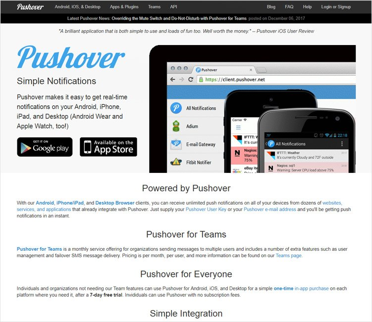 pushhover