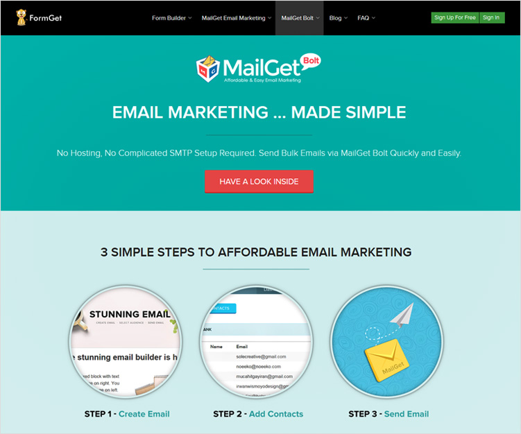 MailGet Bolt Bulk Email Marketing Service