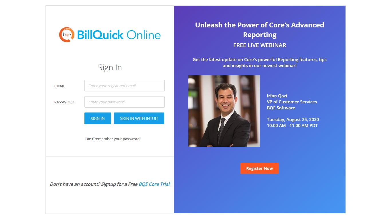 BillQuick - Online - Home