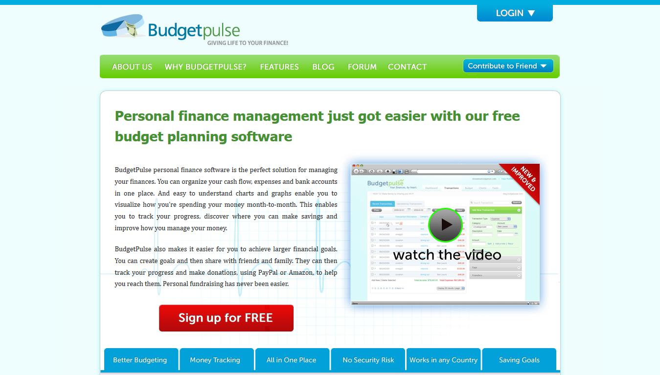 BudgetPulse - Home