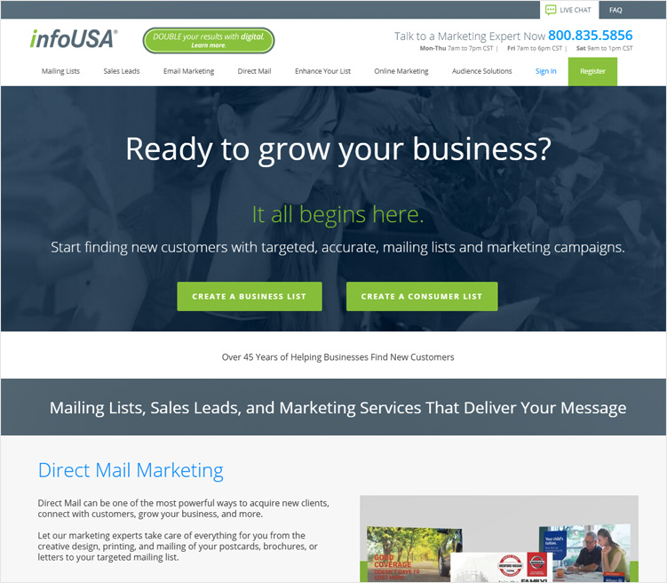 infoUSA Bulk Email Marketing Service