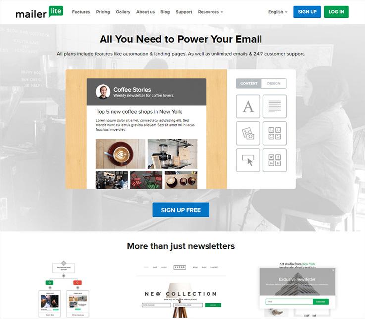 Mailer-lite email marketing software