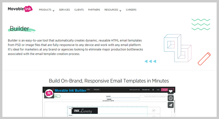 Movable Ink Email Template Builder