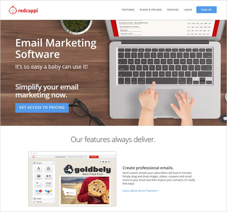 RedCappi email marketing software