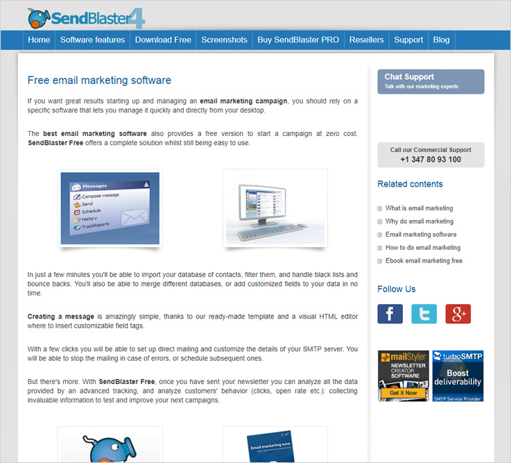 SendBlaster4 free email marketing