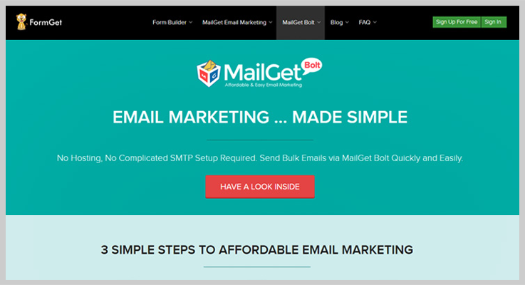 MailGet Bolt Drip Emailing Service