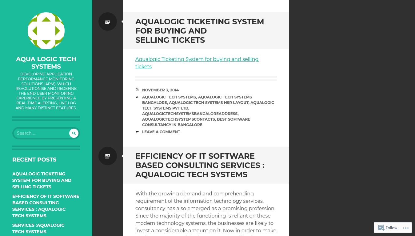 Aqualogic - Tech - Home