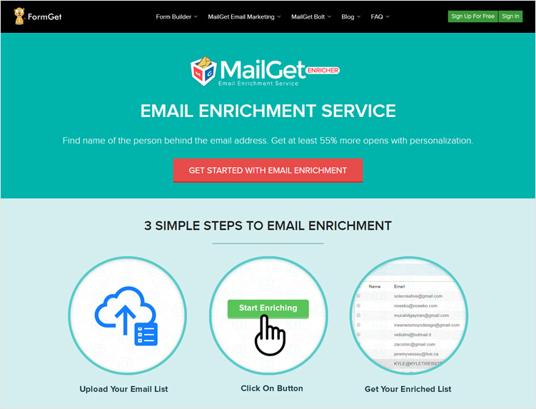 MailGet-Enricher-Social-Media-Search-Engines