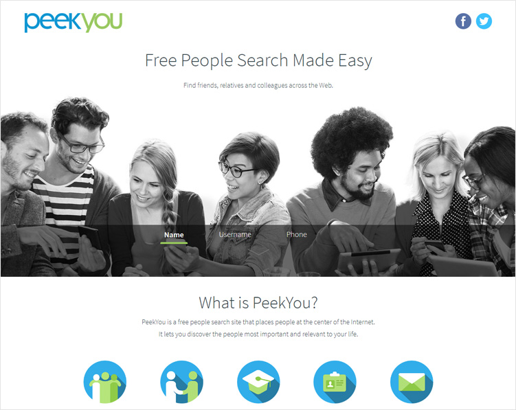 Peekyou-Social-Media-Search-Engines