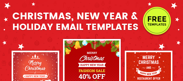free download 5 christmas new year holiday email templates