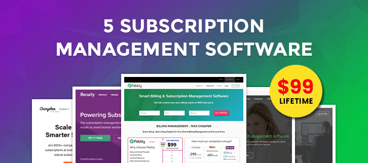 5 Subscription Management Software – Lifetime Service in just $99