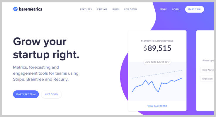 Baremetrics Payments Tracking Software