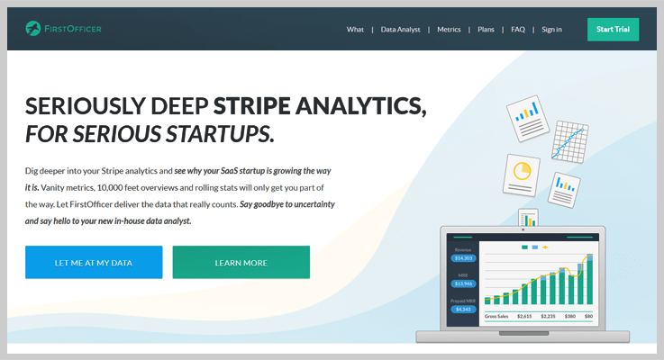 FirstOfficer Stripe Analytics Software