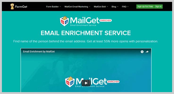 MailGet Enricher Clearbit Alternative