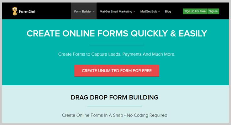 FormGet Online Form Builder