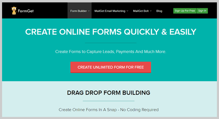 FormGet Software To Create Forms