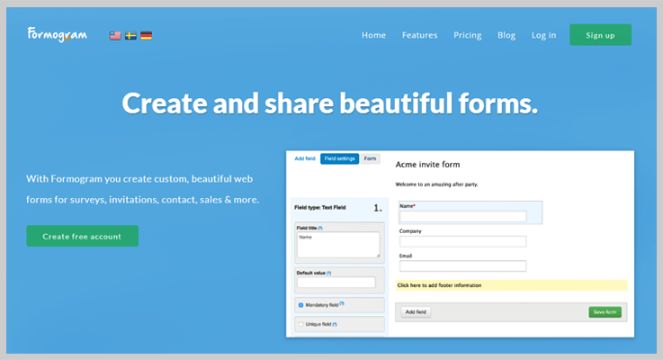 Formogram Online Form Builder