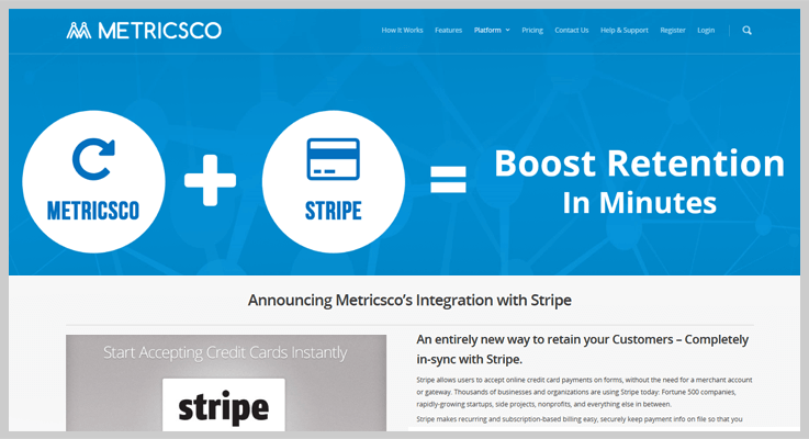 Metricsco Stripe Analytics Software