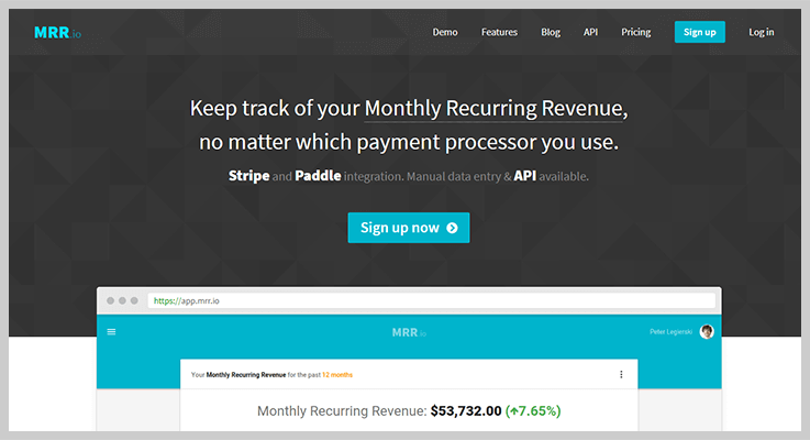 MRR.io Subscription Analytics Tool