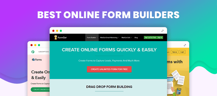 5+ Online Form Builders | Create Professional Forms Without Coding