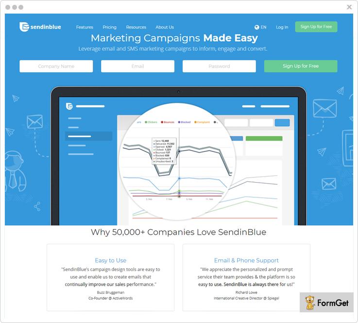 SendinBlue - Benchmark Email Alternatives
