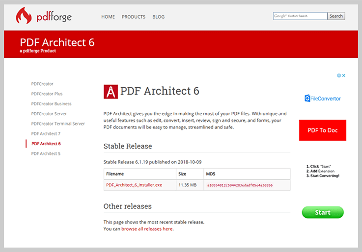 Pdfforge PDF Architect 6