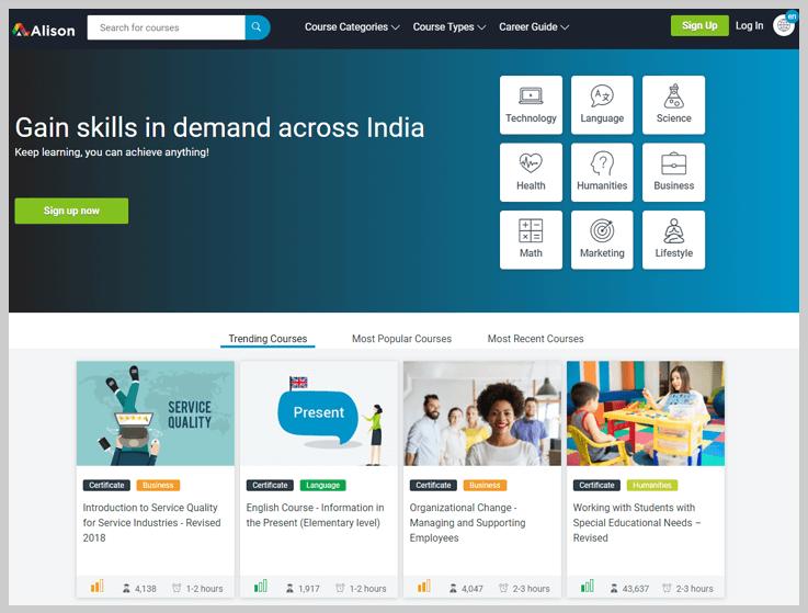 Alison - Online Education Platforms