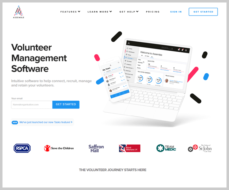 Assemble Volunteer Management Software 1