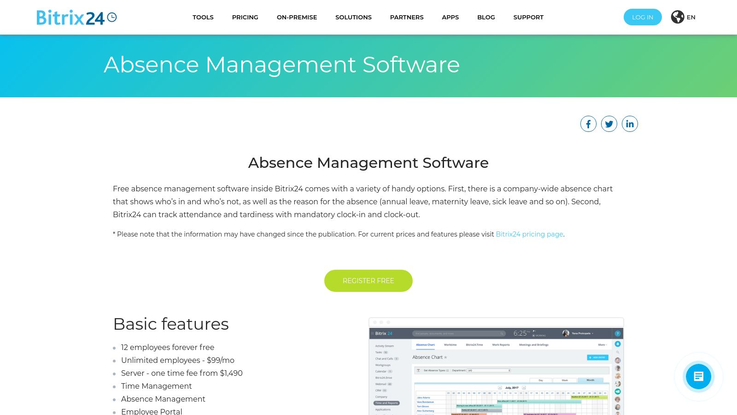 Bitrix24 Absence Management Software