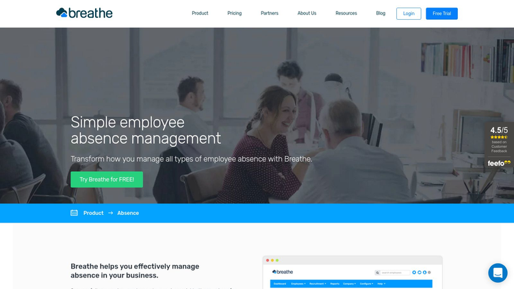 Breathe Absence Management Software