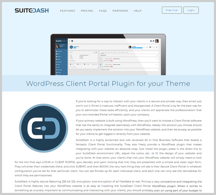 SuiteDash - Client Portal WordPress Plugin