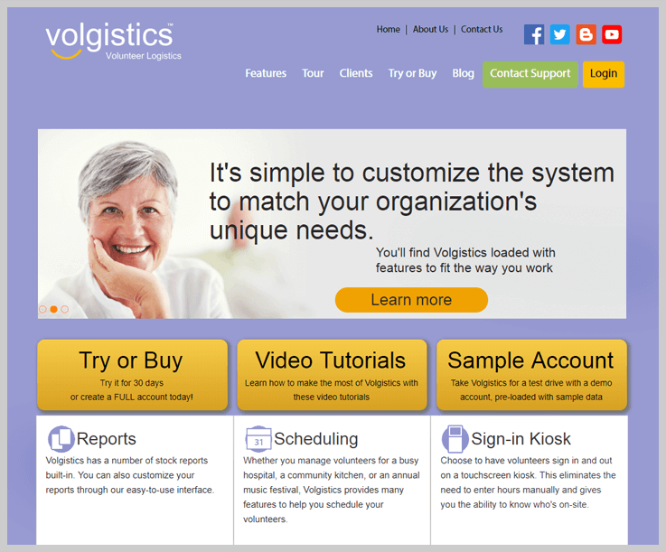 Volgistic Volunteer Management Software 1