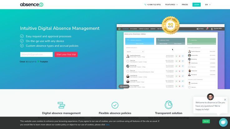 Absence.io Absence Management Software