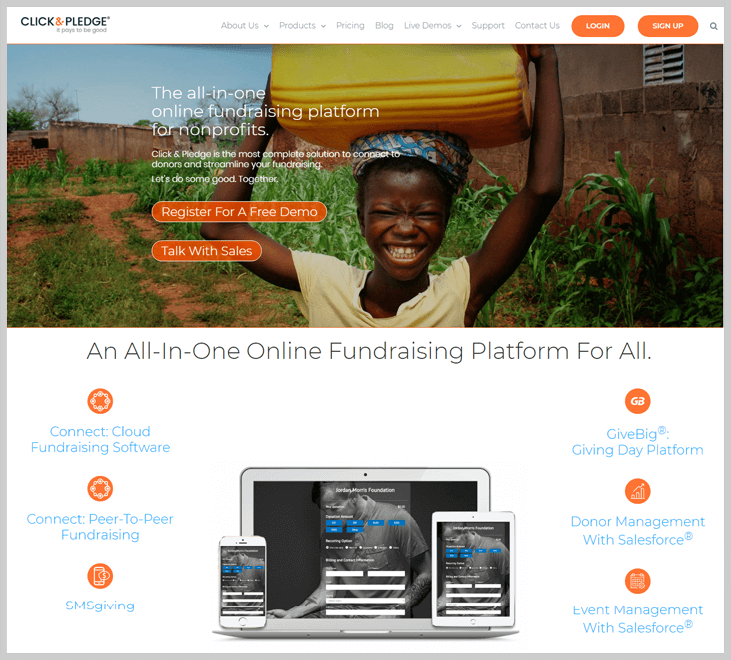 Clickandpledge Fundraising Software