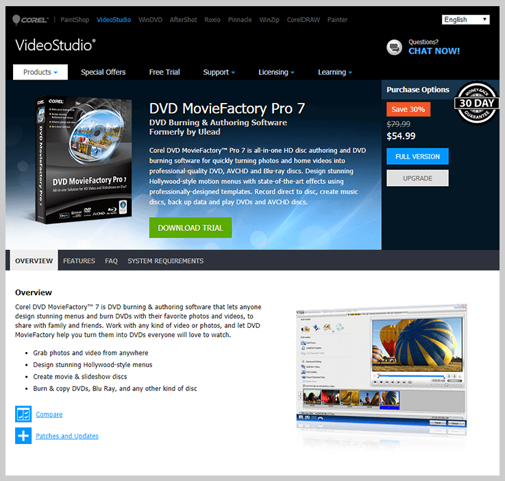 DVD MovieFactory Pro 7 - DVD Burning Software