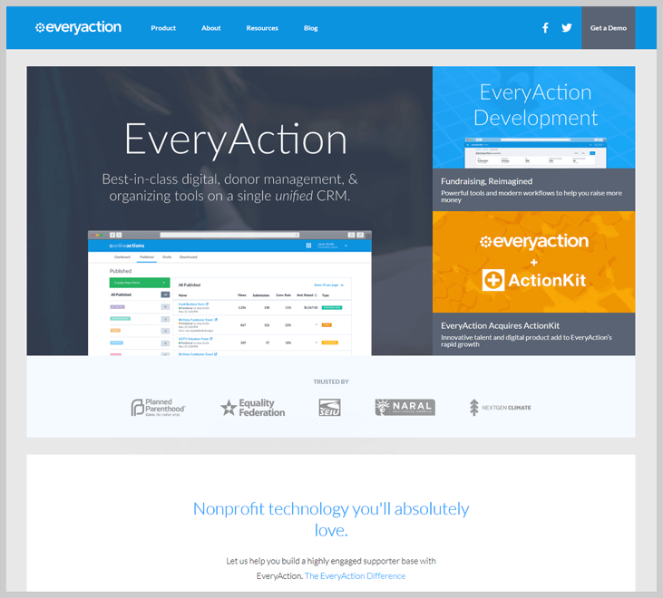 EveryAction GiveGab Fundraising Software