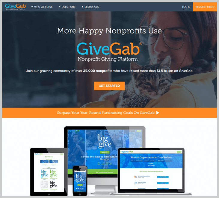 Givegab Fundraising Software