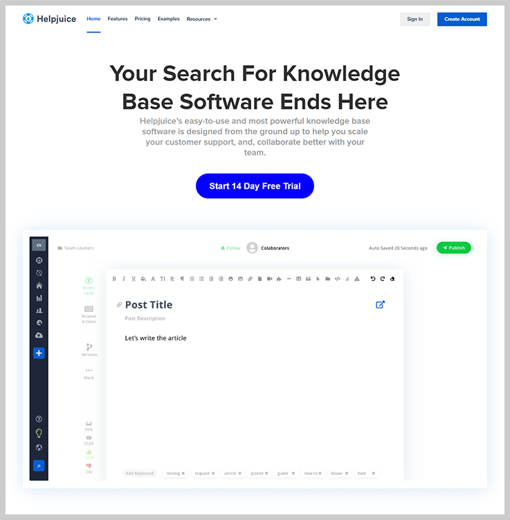 Helpjuice - Knowledge Base Software