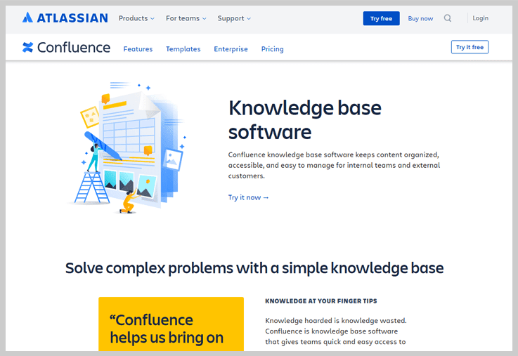 Confluence - Knowledge Base Software