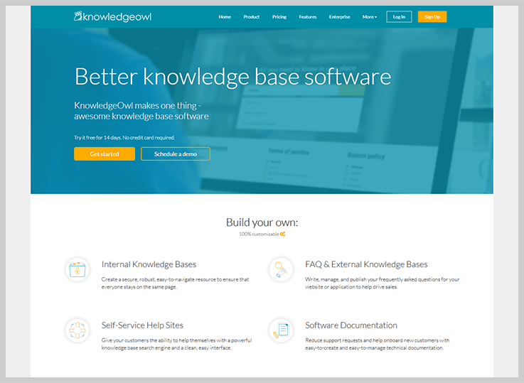 KnowledgeOwl - Knowledge Base Software