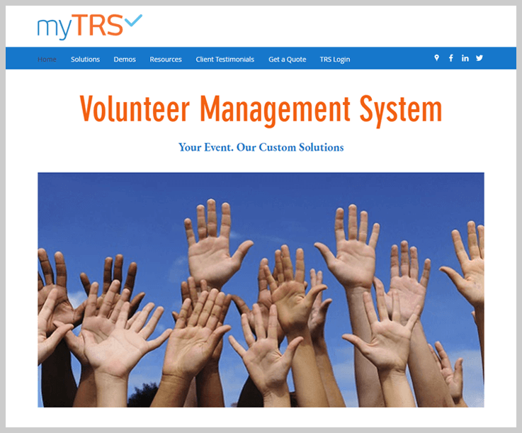 myTRS Volunteer Management Software 1