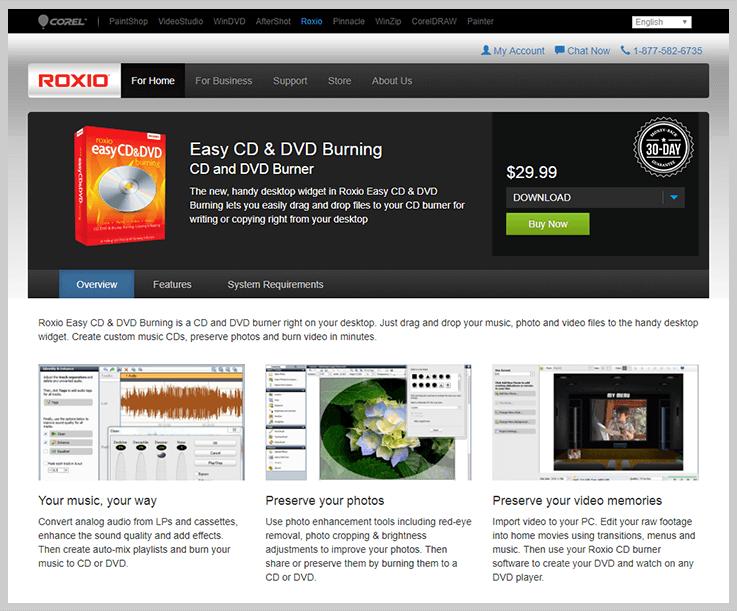 Roxio - DVD Burning Software