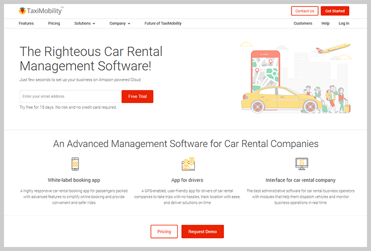 TaxiMobiltiy - Car Rental Booking Software