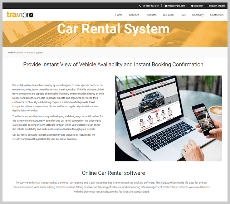 TraviPro - Car Rental Booking Software