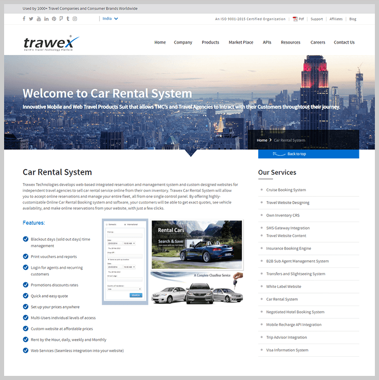 Trawex - Car Rental Booking Software