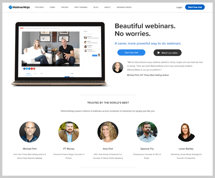 WebinarNinja - Webinar Software