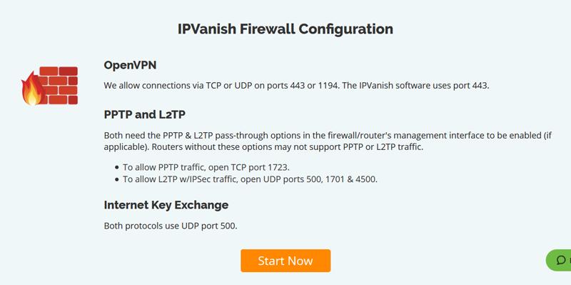 IPVanish Firewall Configuration