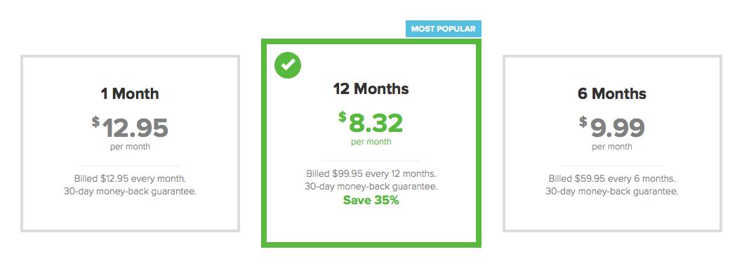 ExpressVPN - Pricing