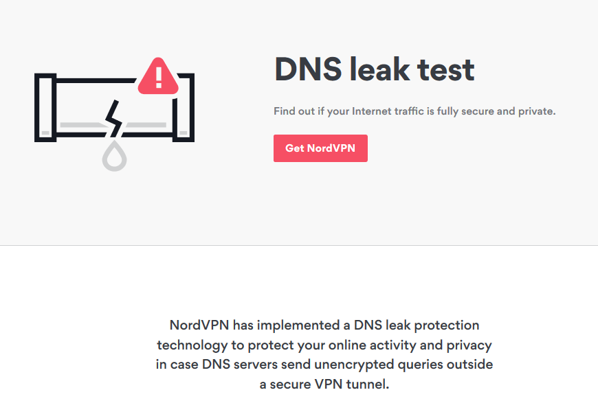 NordVPN DNS leak protection