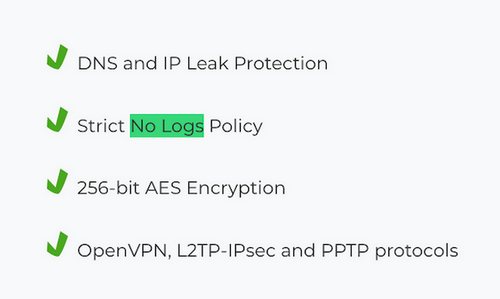 CyberGhost - No Logs Policy